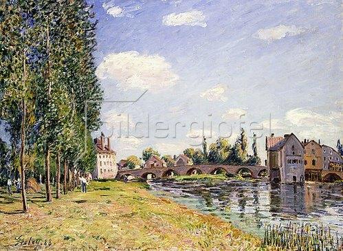 Alfred Sisley: Die Brücke von Moret im Sommer. 1888