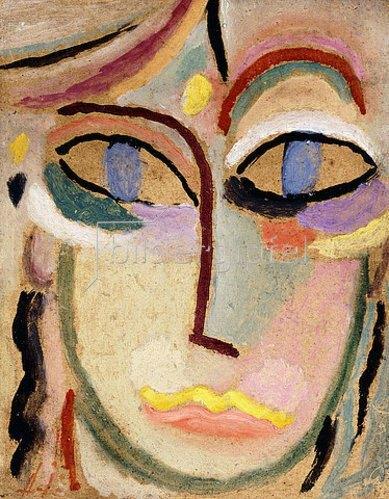 Alexej von Jawlensky: Frauenkopf. Um 1922