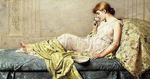 Henry Thomas Schafer: Die Rose (The Boudoir Rose). 1879