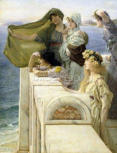 Sir Lawrence Alma-Tadema: An Aphrodites Ursprung.