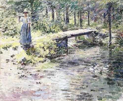 Theodore Robinson: Die kleine Brücke (Der Bach). 1891