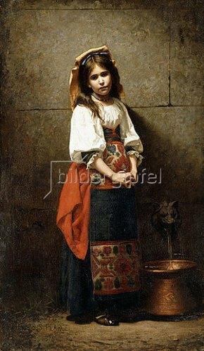 Charles Sprague Pearce: Kleine Italienerin (Am Brunnen). 1875