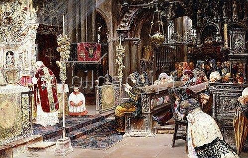 José Gallegos y Arnosa: Die Messe. 1895