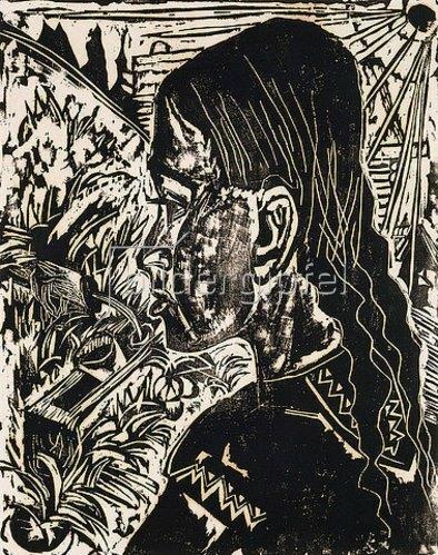 Ernst Ludwig Kirchner: Das Dorli. 1917