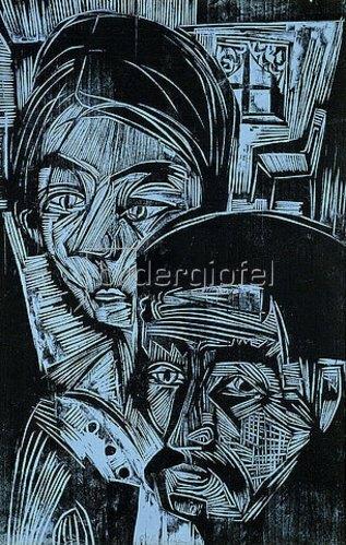 Ernst Ludwig Kirchner: Bauernpaar in der Hütte. 1919