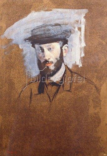 Edgar Degas: Porträt von Eugène Manet. Um 1875