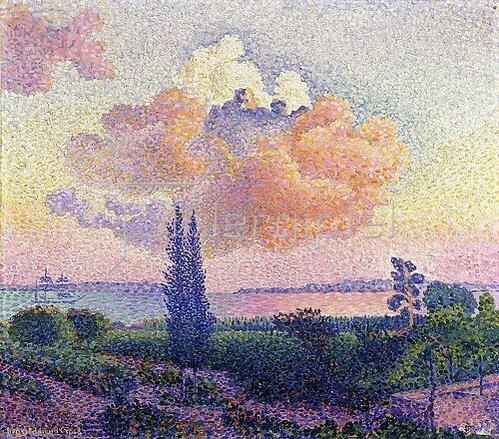 Henri Edmond Cross: Die rosafarbene Wolke (Le Nuage Rose). Um 1896