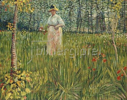 Vincent van Gogh: Frau in einem Garten (Femme dans un Jardin). 1887