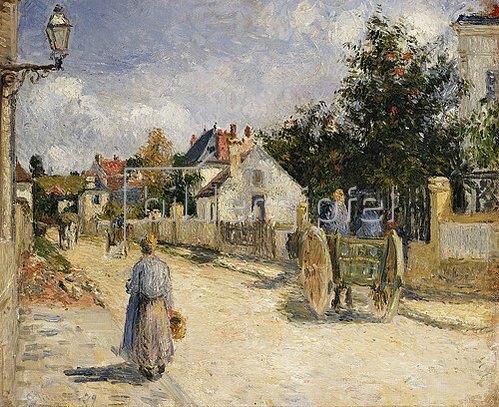 Camille Pissarro: Eine Straße in Pontoise. 1879