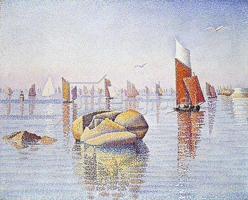 Paul Signac: Concarneau. Ruhiger Morgen (Concarneau. Calme du Matin). 1891