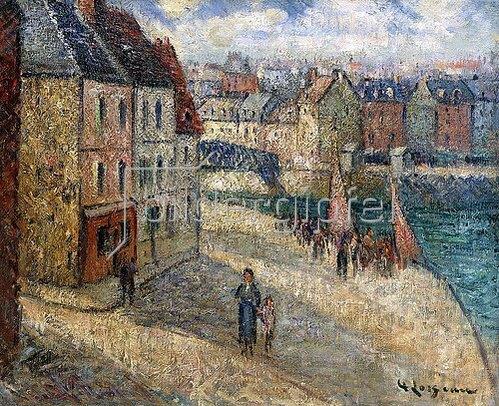 Gustave Loiseau: Kai in Dieppe.