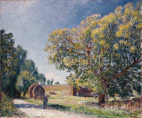 Alfred Sisley: Eine Lichtung in der Nähe eines Waldes (Autour de la forêt, une clairière). 1895