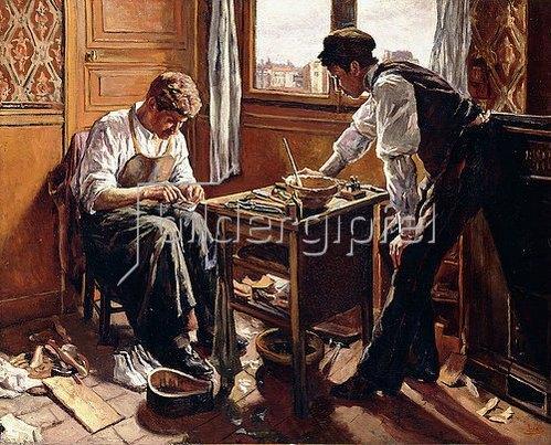 Maximilien Luce: Der Schuhmacher, die beiden Brüder Givort. 1884