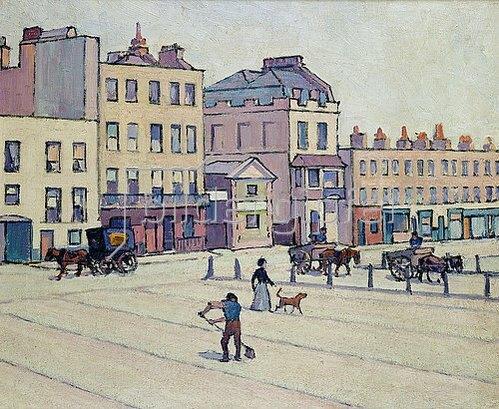 Robert Bevan: The Weigh House, Cumberland Market. Um 1914