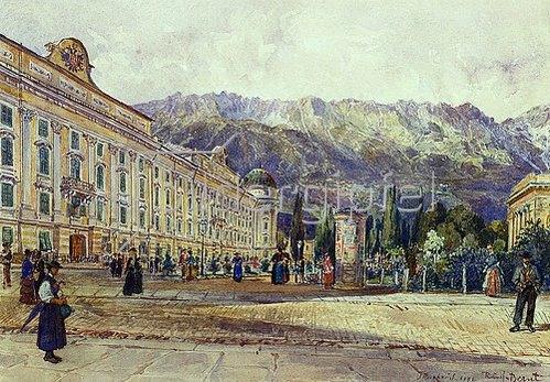 Rudolf Bernt: Burg, Innsbruck. 1892