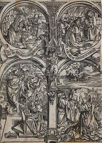 Jacob Corn. van Oostsanen: Vier Szenen aus dem Marienleben. 1507