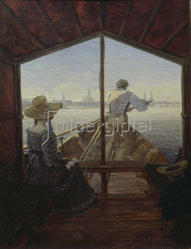 Carl Gustav Carus: Gondelfahrt auf der Elbe. 1827