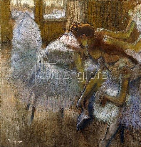 Edgar Degas: Tänzerinnen sich ausruhend (Danseuses au Repos). Um 1885