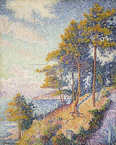 Paul Signac: Saint Tropez, der Küstenweg (Saint Tropez, le Sentier Côtier). 1902