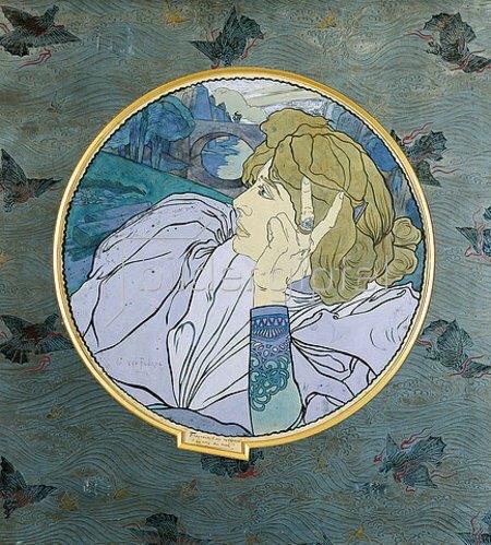 Georges de Feure: Melancholie, die Stimme des Bösen (Melancholia, la Voix du Mal).