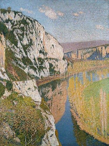 Henri Martin: Klippen und Fluss.