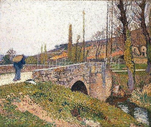 Henri Martin: Die kleine Brücke (Le Petit Pont). Um 1915