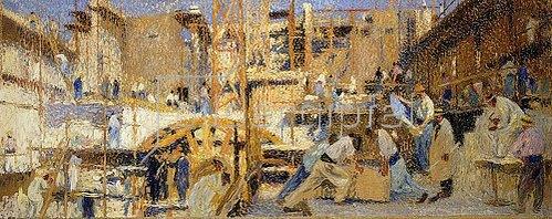 Henri Martin: Die Arbeit (Le Travail). 1914