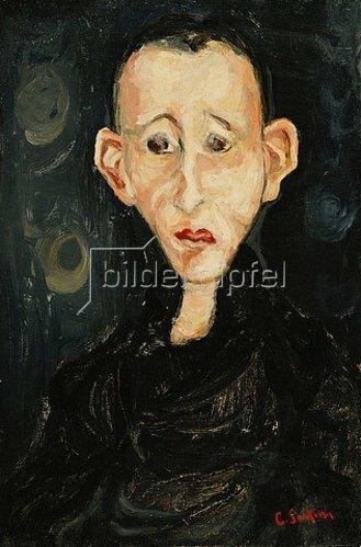 Chaim Soutine: Der Junge in schwarz (Le Garçon en Noir). 1924
