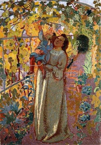 Maurice Denis: Mutter und Kind unter Weinreben (Mère et Enfant sous la Vigne).