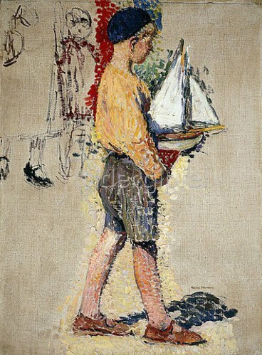 Henri Martin: Junge mit Boot.