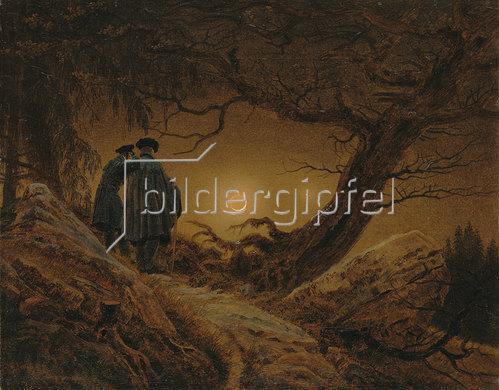 Caspar David Friedrich: Zwei Männer in Betrachtung des Mondes. 1819/1820.