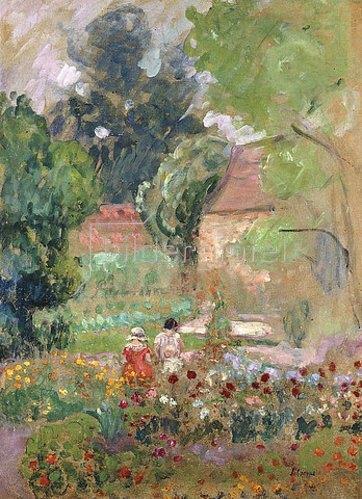 Henri Lebasque: Marthe, Nono und Pierre im Garten.