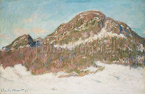 Claude Monet: Der Berg Kolsås im Sonnenlicht (Le Mont Kolsaas, Effet de Soleil). 1895