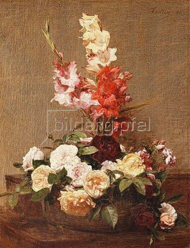 Henri de Fantin-Latour: Gladiolen und Rosen. 1881