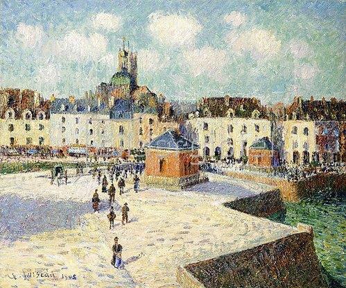 Gustave Loiseau: Der Quai de Carénage, Dieppe, bei Sonnenschein. 1905