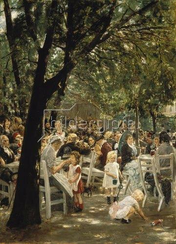 Max Liebermann: Münchner Biergarten. 1883/84