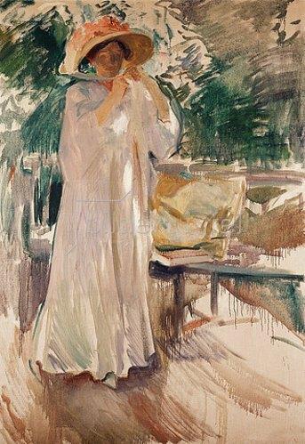 Joaquin Sorolla: Clotilde in ihrem Garten. 1910