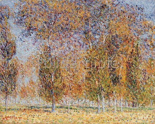 Gustave Loiseau: Herbst-Impression, Saint-Cyr-Du-Vaudreuil. 1899