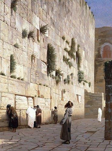 Jean-Léon Gérome: Die Klagemauer, Jerusalem.