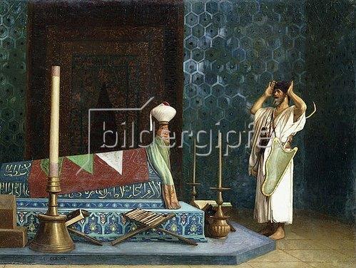 Jean-Léon Gérome: Gebet im Raum des Sultans (Die Trauer Akubars).