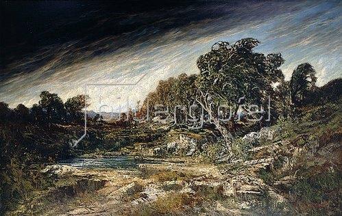 Gustave Courbet: Der Windstoß (Le Coup de Vent). Um 1855