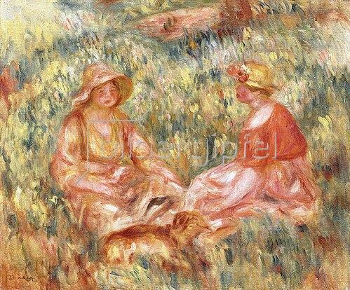 Auguste Renoir: Zwei Frauen auf einer Wiese (Deaux Femmes dans l'herbe). Um 1910