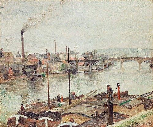 Camille Pissarro: Der Hafen von Rouen. 1883