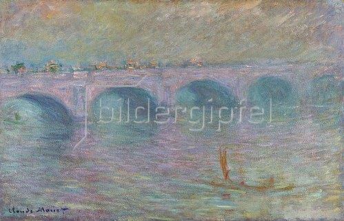 Claude Monet: Waterloo Bridge im Nebel (Waterloo Bridge, Brouillard). 1903