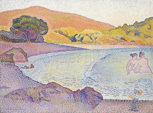 Henri Edmond Cross: Badende (Baigneuses). Um 1892-95