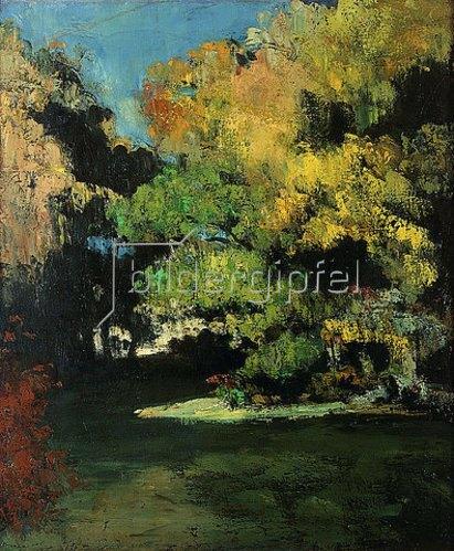 Paul Cézanne: Die Lichtung (La Clairière). Um 1867