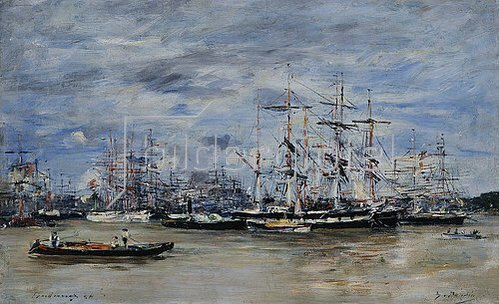 Eugène Boudin: Der Hafen von Bordeaux. 1874