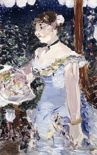Edouard Manet: Die Café-Sängerin (Chanteuse de Café-concert). 1879