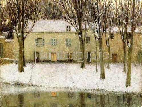 Henri Le Sidaner: Kleiner Platz am Wasser (Petite Place au Bord de l'Eau). 1902