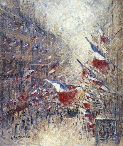 Gustave Loiseau: Der vierzehnte Juli in Paris (Le Quatorze Juillet à Paris).